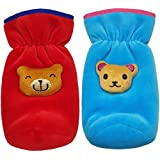 BRANDONN NEWBORN Baby Feeding Bottle Cover With Soft & Attractive Fancy Cartoon Set Of 2 Colors & Designs - (Blue & Red)