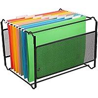 NUOBESTY organizador colgante carpetas de archivos gabinete de oficina conveniente carpetas de archivos película duradera manualidades de pvc clip - 20 piezas, rojo+amarillo + verde + azul + naranja