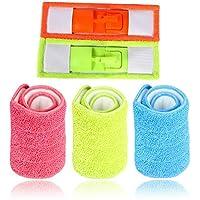 fomccu 3pcs repuesto microfibra lavable Mophead Fit soporte de Spray Limpia herramientas de limpieza para el hogar