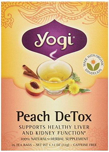 Yogi Tea, Pêche pour Detox, sans caféine, 16 sachets de thé, 1,12 oz (32 g)