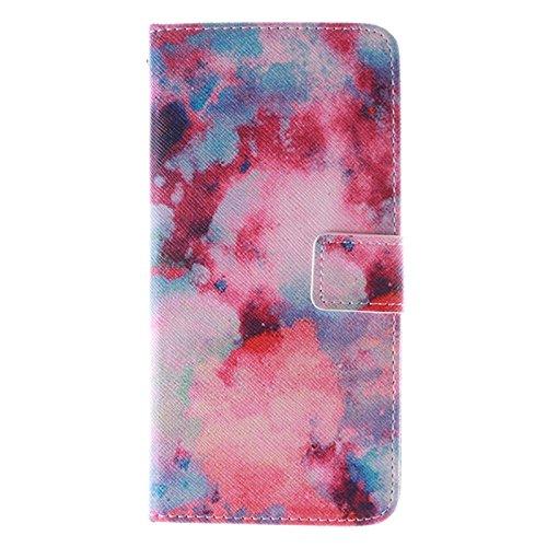 Phone case & Hülle Für iPhone 6 / 6S, Pflaumenblütenmuster Doppelseitiger Druck Ledertasche mit Halter & Kartenfächer & Geldbörse ( SKU : S-ip6g-1638g ) S-ip6g-1638h