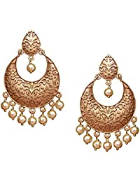 Meenakari Royal Gold Plated Gorgeous Flower Danglers Earring Set