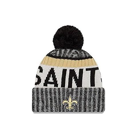 New Orleans Saints New Era 2017 NFL Sideline On Field Sport Knit Hat Chapeau - Black