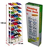 #10: Diswa Amazing Shoe Rack Stand Holds APPROX 30 Pairs of Shoes with 10 layers Portable Foldable