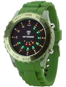 DETOMASO Unisex-Armbanduhr Binär Quarz DT2015-H