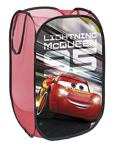 Disney Cars 3 - Cesta pongotodo guarda juguetes Rayo McQueen