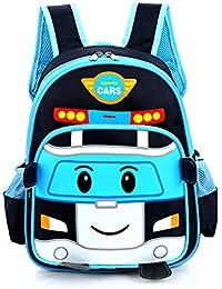 Preisvergleich für WINGMO Babyrucksack Kindergartenrucksack Backpack 3D Cartoon Auto Schultasche Kinder Mini Backpack
