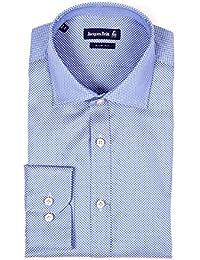 JACQUES BRITT Herren Hemd Langarm John blau gemustert Blue Label Slim Fit 273120-015 Größen: 38 39 40 41 42
