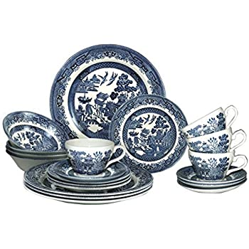 Churchill China Blue Willow Service de table 20 pièces