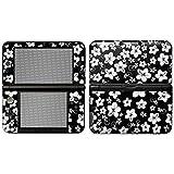 """Nintendo 3DS XL Designfolie """"Hawaii Schwarz"""" Skin Aufkleber für 3DS XL (2012)"""
