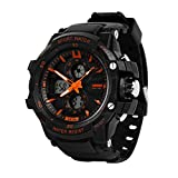 LPAN Waterproof Electronic Watch Double Show Men'S Fashion Multi-Function Sports Watch Led Outdoor Students Children'S Hands ????