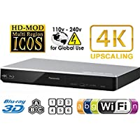 Panasonic 270 Player Multi Zone All Region DVD Blu Ray Player. 4 K Hochskalierung - WLAN - 2D/3D - PLAYS BDS, DVDs, Music Cds. 100 - 240 V world-wide Voltage & 2 m HDMI Cable Bundle.