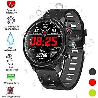 Kivors Smartwatch, Reloj Inteligente IP68 Impermeable Bluetooth SmartWatch con Múltiples Modos de Deportes, Fitness Tracker, Monitor de Dormir, Notificación de Llamada y Mensaje para Android e iOS