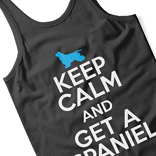 Keep Calm And Get A Spaniel Women's Vest Black