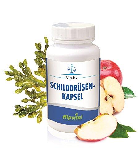 Alpvital Schilddrüse Kapseln - Zink Selen Jod Vitamin B1 B2 B6 B9 Mineralstoffe Nerven (Schilddrüse, Vitamine)