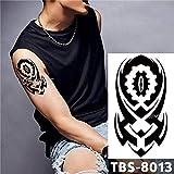 Handaxian 3pcs Autoadesivo del Tatuaggio Impermeabile Moderno Autoadesivo del Tatuaggio Fiamma Tatuaggio Totem Tribale Tradizionale