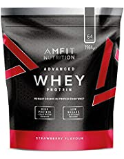 Amfit Nutrition Advanced Whey Protein Powder - 64 Servings (Strawberry)