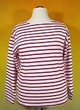 Bretonisches Damen Fischerhemd Langarm Streifen Hemd weiß