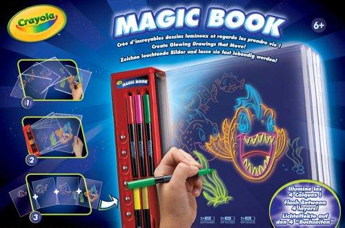 Crayola 74-6000 - Crayola Magic Book, crea disegni luminosi e guarda come si muovono