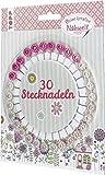 Nähwelt Stecknadeln: 30 Stecknadeln mit Blumenköpfen im Nadelrad