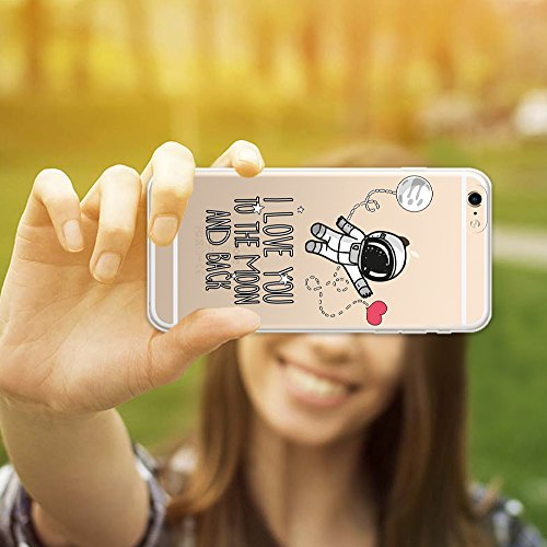 iPhone 6 Plus | 6S Plus Hülle, WoowCase® [ Hybrid ] Handyhülle PC + Silikon für [ iPhone 6 Plus | 6S Plus ] Hund Fußabdruck Handytasche Handy Cover Case Schutzhülle - Transparent Hybrid Hülle iPhone 6 Plus | 6S Plus D0216