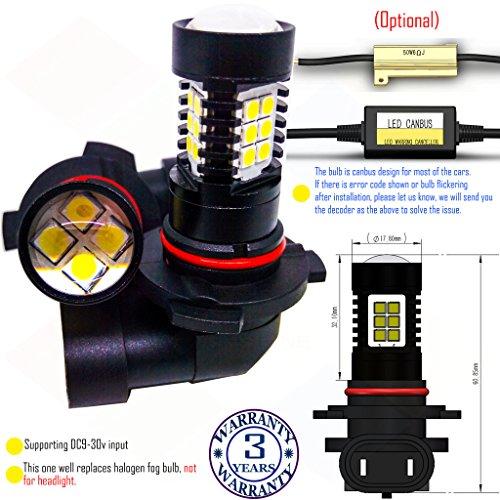 Preisvergleich Produktbild Wiseshine 9005 HB3 LED-Nebelscheinwerfer lampen DC9-30v 3 Jahre Qualitätssicherung (2 Stück) 9005 22smd 3030 rot