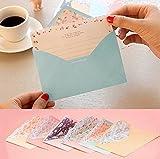 Funcoo Briefpapier, hübsches Design, 48 Blatt, mit 24Umschlägen + 1Bogen Siegel-Aufkleber Style-2(7.1x5.2 inch)