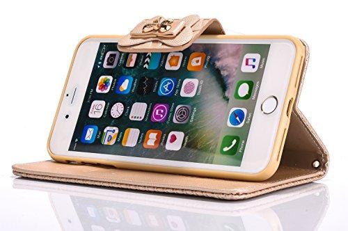 Voguecase Pour Apple iPhone 7 Plus 5,5 Coque, Étui en cuir synthétique chic avec fonction support pratique pour Apple iPhone 7 Plus 5,5 (Arc-Bleu)de Gratuit stylet l'écran aléatoire universelle Arc-Or