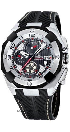 Festina - F16350/2 - Montre Homme - Quartz - Chronographe - Bracelet Cuir Noir