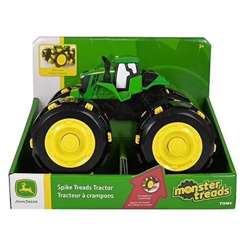 TOMY Monster Treads Spike Räder - Satz mit 4 ausfahrbaren Spike Reifen für den Spielzeugtraktor John Deere Monster Treads - Zum Spielen und Sammeln - ab 3 Jahren - Von Rad-satz 4