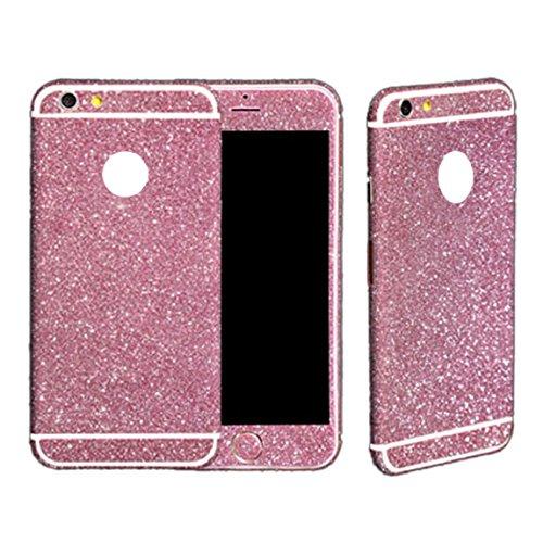 Rosa Mantel Heiße (Dealspanks® Bling Glitzer Funkeln Voll Körper Sticker Vorder- und Rückseite Film Protektor Haut für Apple iphone 6 plus 5.5 Inch (A1 heiß rosa))