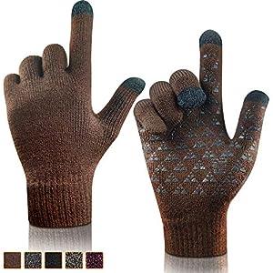 arteesol Touchscreen Handschuhe, Winterhandschuhe Herren Damen gestrickt Anti-Rutsch Winddicht Handschuhe für Outdoor Radfahren Camping Bergsteigen
