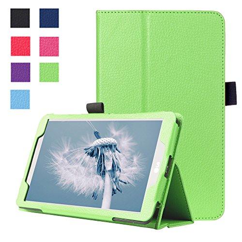 Forhouse Hülle LG G Pad 2 8.0 V498, PU Ledertasche Flip Magnet Etui Mit Standfunktion Ultra Schlanke stoßfest Schutzhülle für LG G Pad 2 8.0 V498 (Green)
