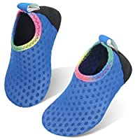 storeofbaby Baby Girl Athletic Water Shoes Quick Dry Comfort Sand Swim Socks Pure Blue