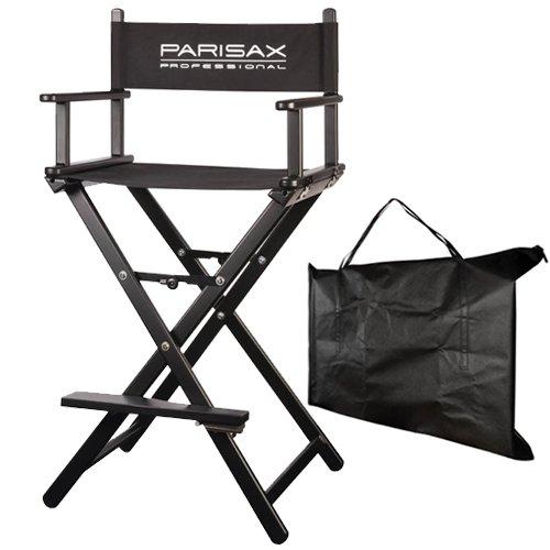 Chaise maquilleur Alu noire avec housse de transport
