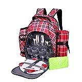 Yodo (Deluxe voll ausgestattet Picknick-Rucksack für 4Personen mit Decke und