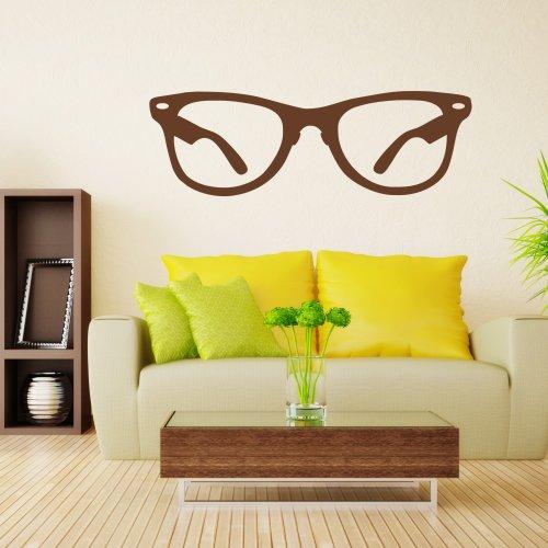 DigTour WallArt Vinyl Brillen Wand Aufkleber Wayfarer Zitat Hipster Rahmen Brillen Decor gerahmt Wandtattoo Home Art Deko Art Deco 13