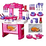 #5: MAGNIFICO Kitchen Set Toy for Girls Battery Operated with LED Lights (KITCHEN 008-26)