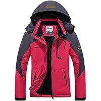 Panegy - Chaqueta para Mujeres para Deportes Esquí Invierno Abrigo impermeable Chaqueta de Nieve a prueba Viento - Azul Verde Rojo Rosa - Talla asiático M L XL XXL 3XL