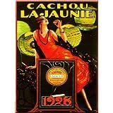 FRANCIA VINTAGE PLACA METAL 20x15cm PUB RETRO CACHOU LAJAUNIE 1928 - M643