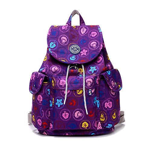 Neue wasserdichte Nylontuch Rucksack weiblichen Waschlappen Handtaschen High-End-Rucksack lila - Tourist Kostüm Weiblich