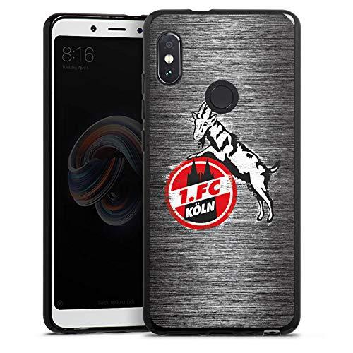 DeinDesign Silikon Hülle kompatibel mit Xiaomi Redmi Note 5 Case Schutzhülle 1. FC Köln Metall Look Offizielles Lizenzprodukt 5 Silikon Silicon Case