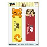 Set von 2glanzfolienkaschiert Cat und Dog Lesezeichen–Namen weiblich am-an Ami