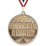 Trophy Monster Speciale Award Sterren Medaille met GRATIS Lint 50mm gestempeld ijzer   Antiek goud afwerking