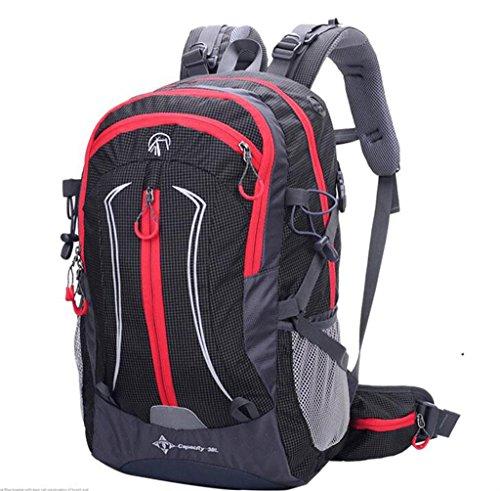 Outdoor uomini sacchetto di alpinismo viaggio zaino e le donne che guidano borsa sportiva impermeabile 38L ( Colore : Nero , dimensioni : 38L ) Nero