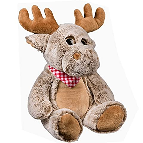 42CM PLUSH MOOSE CUDDLY TEDDY BEAR KIDS FUN GIFT TOY CUTE LARGE SOFT REINDEER