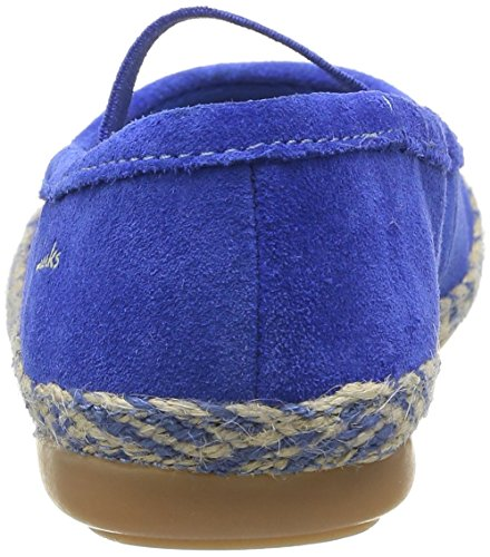 Clarks Dance Jump, Ballerines fille Bleu (Electric Blue)