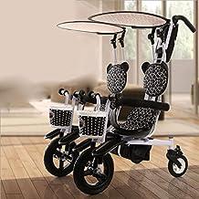 QXMEI Triciclo A Pedales para Niños De 1 A 4 Años con Doble Asiento Bicicleta Bebé