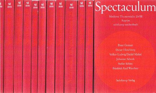 Spectaculum: Reprint der Bände 16-25 und Materialband (Suhrkamp Taschenbücher)