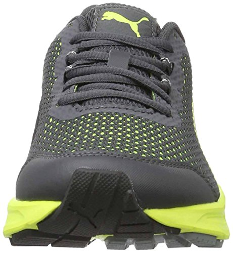 Puma Herren Descendant V4 Laufschuhe Grau (asphalt-safety yellow 08)
